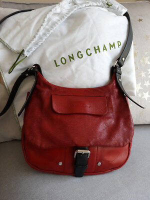 Longchamp Dust Leather Balzane Bag Indossato Red Roots 6wq7rS6
