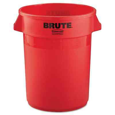 Rubbermaid Commercial 32-gallon Red Plastic Round Brute Container