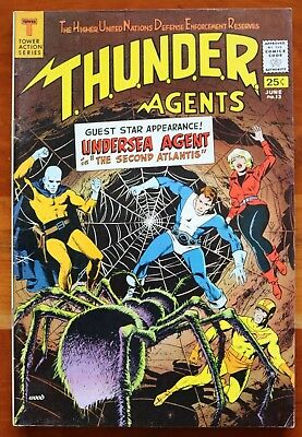 THUNDER AGENTS #13, Tower Comics. June, 1967 Free Returns