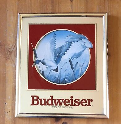 Budweiser Beer Mirror Sign Ducks Wildlife Series 1992