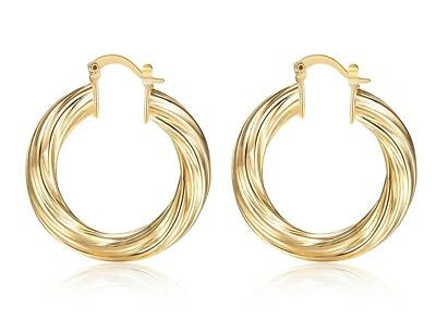 Hoop Earrings 35Mm Round Gold Plated Small Hoops Fab Women Girl