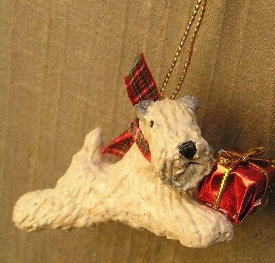 Soft Coated Wheaten Terrier with a PACKAGE Ornament!