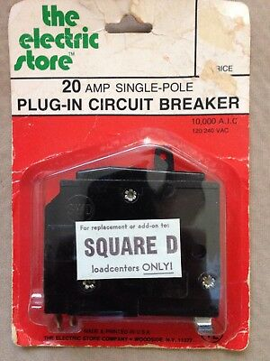 The Electric Store 20 Amp Single Pole Plug-In Circuit Breaker (Vintage)