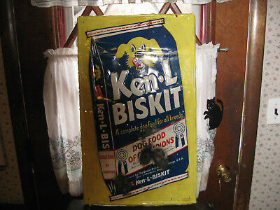 Vintage Ken-L Biskit Dog Food Sign Dog Food of Champions