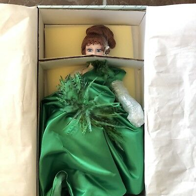 "Madame Alexander Doll Porcelain Dazzling Emerald with COA 16"" New in Box"