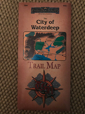 Forgotten Realms - The City of Waterdeep - Trail Map