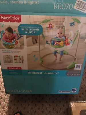 Fisher-Price Rainforest Jumperoo Baby Jumper Bouncer Activity Center