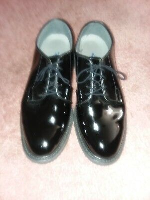 MEN S BATES SHOES 941-B High Gloss Military Oxfords Made in USA sz ... a8344f9843a