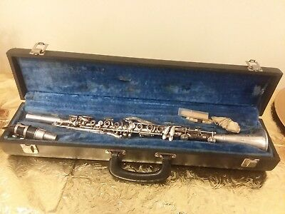 Vintage Metal THREE STAR CLARINET Made in U.S.A. WOODWIND