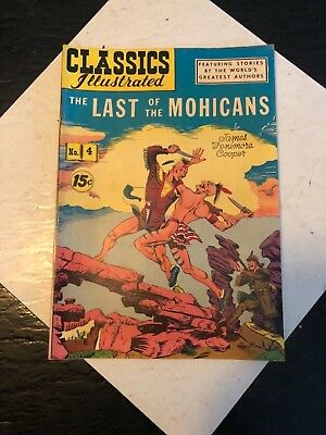 Classic Illustrated The Last of The Mohicans # 4 Comic Book