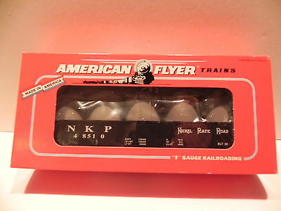 AMERICAN FLYER by LIONEL 48510 NICKEL PLATE ROAD GONDOLA WITH CANISTERS - MINT