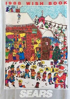VTG Wish Book Sears 1988 Christmas Catalog Video Games 80's Toys LEGO Clothes AD