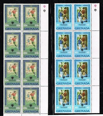 Grenada Stamp Mnh Blk Of 8 Stamps Collection Lot