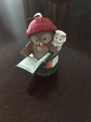 HALLMARK ORNAMENT Book Owl