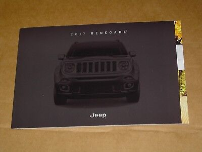 2017 Jeep Renegade Sales Brochure Mint! 42 Pages