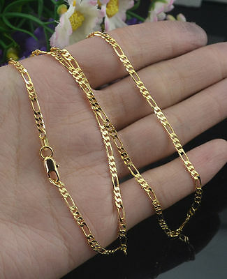 1pc 2MM 18k Yellow Gold Filled Twist Link Chain Necklace Wedding Jewelry 16-30""