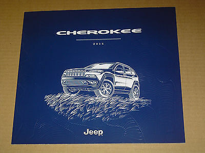 2016 Jeep Cherokee Sales Brochure Mint! 48 Pages