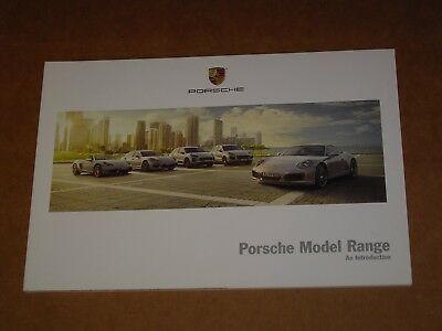 2016 Porsche Model Range Sales Brochure Mint! 58 Pages