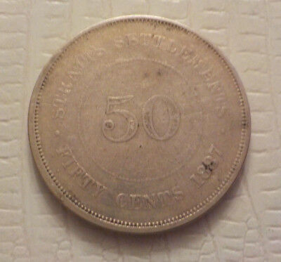 1887 Straits Settlements 50 Cents only 94,000 minted No Reserve