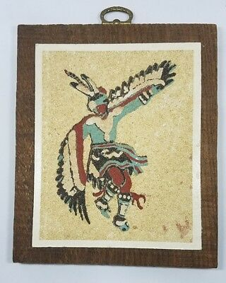 """Rainbow Way Ltd. """"The Eagle Dance Ceremony"""" sand painting. wall hanging"""