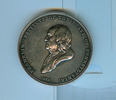 1853 Franklin Institute PA Signed Silver Award Medal Ware MA