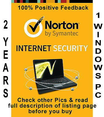 Norton Internet Security 2019 for 2 Years 1 PC Worldwide - Check Pics
