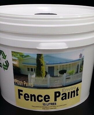 1x10 Litres Cans OF RE-ENGINEERED Fence Paint  COLOUR - MONUMENT