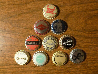 10 different unused plastic-lined beer bottle caps #3.