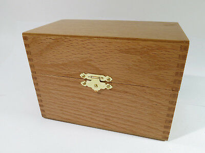 Restored Vintage Solid Oak Recipe/Card File Box Made by Hedberg Co. Model # 463