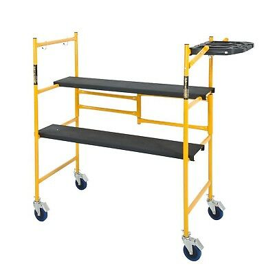 Rolling Scaffold Platform Folding Work Bench Ladder Dolly 500 lb. Load Capacity