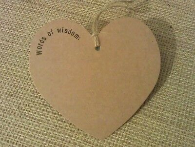 Advice for the bride and groom alternative guest book wedding love hearts tags