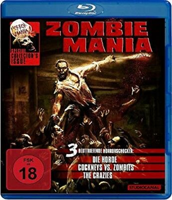 Zombiemania Blu-ray 3 Filme Die Horde, The Crazies, Cockneys vs. Zombies NEU OVP