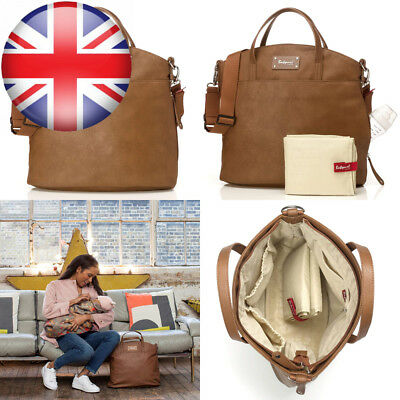 BABYMEL GRACE TAN Leather Changing Bag £14.14 | PicClick UK