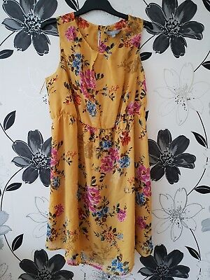 Maternity Dress Size 18 New Look  Yellow Flower Design