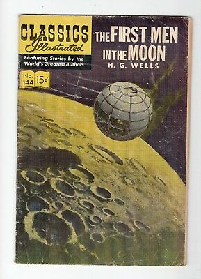 Classics Illustrated The First Men in the Moon H G Wells No 144 May 1958