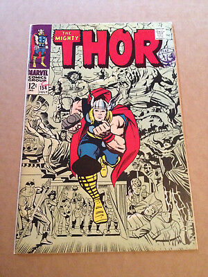 Thor # 154 - Jack Kirby Art / Vs The Mangog - Marvel Silver Age 1968