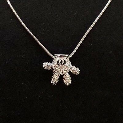 Disney Arribas Crystal Mickey Mouse Hand Necklace