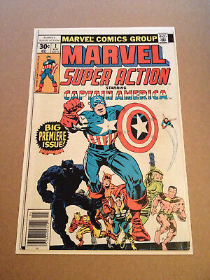Marvel Super Action # 1 - Rep Captain America # 100 / Kirby / Nd In Uk - Mrv 77