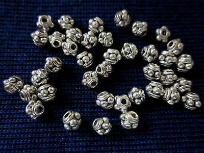 50 Spacer Beads 4mm Antique Silver Coloured #sp2495 Jewellery Making Findings