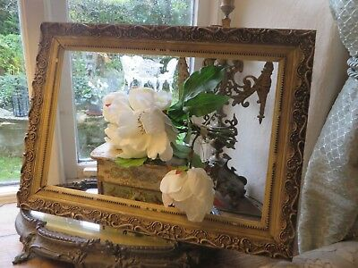 CHARMING ANTIQUE FRENCH WOODEN PHOTOGRAPH OR PICTURE FRAME ~ EARLY 1900's