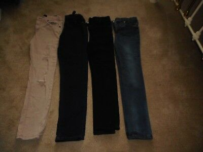4 Pairs Boys River Island Skinny Jeans Age 11-12