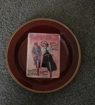 Townend Cycles Advertising Collectible Metal Serving Tray By Nevco