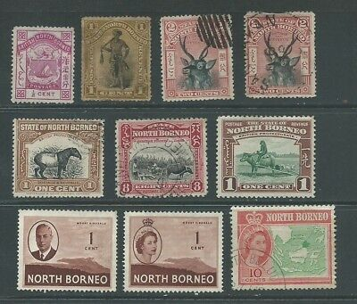 North Borneo 1886-1956 from an old collection mint/used
