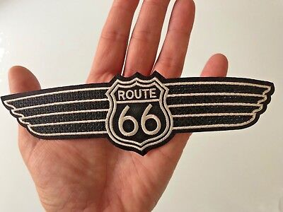 Ecusson Patch Xl Brode Thermocollant Route 66 Usa Biker Motard