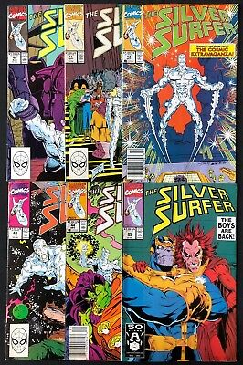 Silver Surfer #40 41 42 43 44 45 Thanos Infinity Gauntlet Pretty Good Condition