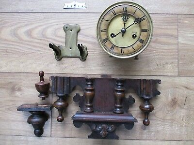Antique or vintage HAC Vienna style wall clock movement repair or spares