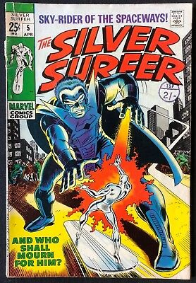 Silver Surfer #5 Pretty Good Condition 1969