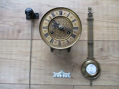 Antique Vienna  wall clock movement repair or spares