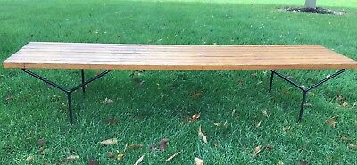 Vintage Mid Century Modern Slat Bench by Harry Bertoia for Knoll