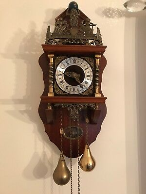 Antique Twin Weight Dutch Wall Clock